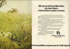 Publicité Advertising 1972 (Double page)  CREDIT AGRICOLE Banque Pret immobilier