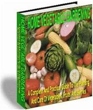 Home Vegetable Garden Ebook On CD $5.95 Plus Full Resale Rights Free Shipping