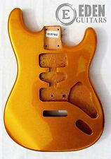 Paulownia Tremolo Body for Strat Guitar Gold Sparkle HSH