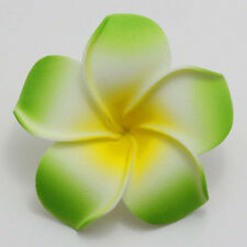 2 pieces Green NEW Foam Floating Frangipani/Plumeria/Hawaiian Flower Head Crafts