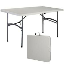 5' Folding Table Portable Plastic Indoor Outdoor Picnic Party Dining Camp T