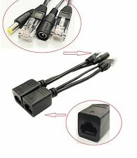 1 Pair - IP Camera Power Over Ethernet Passive PoE Injector Splitter Cable RJ45