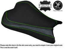 CARBON GRIP L GREEN DS ST CUSTOM FITS KAWASAKI ZX10R 1000 08-10 FRONT SEAT COVER