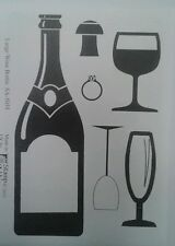 Unmounted rubber stamps Large Wine Bottle - REDUCED