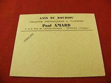 Enveloppe Anis du Boudiou Grande distillerie à vapeur Paul Amar Epinal Ancienne
