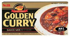 240g S&B HOT GOLDEN CURRY SAUCE MIX Japanese, Japan for beef pork chicken prawns