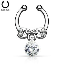 Septum Chain IP Brass Non-Piercing Septum Hanger