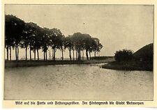 1914 Belgien * Antwerpen: Blick auf die Forts und Festungsgräben *  WW1