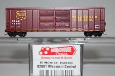 N Scale Roundhouse 82801 Wisconsin Central 50' Double Door Boxcar 43605