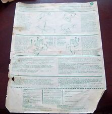 Coleco / Eagle Hockey game  assembly instructions & Hockey parts list 1970's