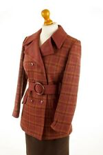 Vintage orig 60er 70er Jacke rot Wolle Kurzmantel Boho S