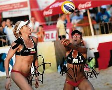 April Ross and Kerri Walsh Jennings Autographed 8x10 Photo (Reproduction)