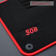 Velour Edition tapis de sol pour peugeot 308 sw II Combi à partir de Bj. 03/2014 - rouge