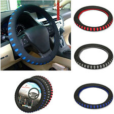 Car Steering Wheel Cover Glove Comfy Foam Universal Padded Design Grey Blue Red