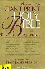 KJV Holy Bible Giant Print Personal Size Reference Gold Edition, , Good Book