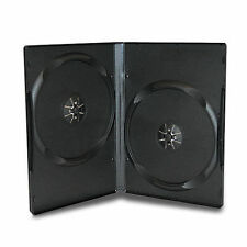 50 CUSTODIE CD DVD vergini DOPPIE NERE 14 mm custodia