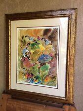 """Robert A Fleming original watercolor painting """"Hide and Seek"""""""