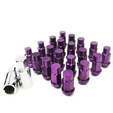 M12 X 1.25mm Aluminum Wheel Lug Nuts w/Lock Fit 350Z 370Z 240SX Altima Purple