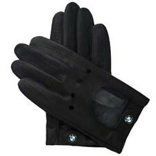 BMW Driving Gloves Black Leather Large Sized  80162150527  OEM