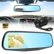 3.8'' 1080P HD Dual Lens Car DVR Dash Cam Video Recorder Rear View Mirror Camera