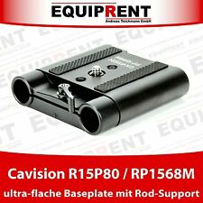 Cavision R15P80 / RP1568M ultra flache Rig Baseplate mit 15mm Rod Support EQ031