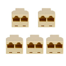 5PCS Brand New LAN Ethernet Splitter Connector RJ45 CAT 5 6 Adapter