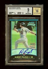 2001 BOWMAN CHROME ALBERT PUJOLS AUTO ROOKIE RC #340 BGS 9+ **JERSEY #5/500**