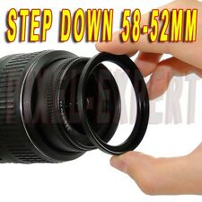 ANELLO ADATTATORE STEP-DOWN 58-52MM RING ADAPTER OBIETTIVO SONY PANASONIC NIKON