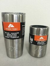 Ozark Trail 20oz Stainless Vacuum Insulated Tumbler and 12oz Can Koozie