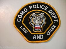 Police Department COMO, MS Law and Order Patch ~ MISSISSIPPI Dept.
