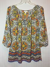 Charter Club Woman 1X Peasant Blouse
