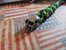 Tactical Paracord knife lanyard stainless skull bead  EDC gear  xm-18,cqc7.busse