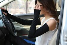 Random Fashion Women Lady Extra Long Lace cuff Fingerless Gloves Sunscreen