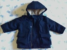 Wool Hooded Peacoat - quilted lining by Baby Gap size 12-18mo NWT