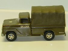 Vintage Tonka Army Troop Hauler Truck, Pressed Steel Toy Vehicle