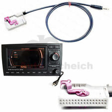 AUX IN Adapter für Audi RNS-E Navi TV Klinke Stecker Kabel RNSE MP3 iPhone Radio