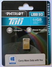 64GB Patriot TAB Mini USB 3.0 Stick max. 80MB/s silber ALU metall NEU