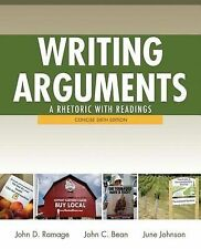 Writing Arguments Concise Edition by John D Ramage