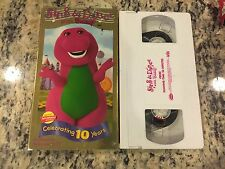 SING & DANCE WITH BARNEY OOP VHS 1998 PBS EDUCATIONAL KIDS SINGING DANCING FUN!