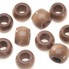 Jumbo 25mm Round Maple Large 10mm Hole Natural Wood Beads 8pc