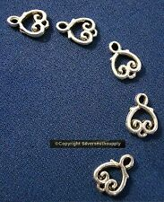 Victorian jewelry style 14x10mm links antique silver plated zinc 5 pcs  FPL005