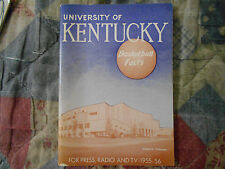 1955-56 KENTUCKY WILDCATS BASKETBALL MEDIA GUIDE Yearbook 1956 Press Book SEC AD