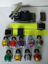 DX Sengoku Driver Belt & Lock Seed 9pcs set Kamen Rider Gaim from Japan Used#752