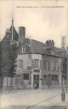 CPA 10 MERY SUR SEINE CAFE TABACS MARTINOT (belle cpa