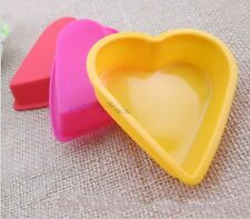 Heart Shape Large Cake Pan Silicone Baking Mold Chocolate Candy Tray Mould