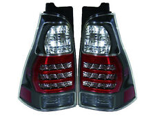 2003-2009 Toyota 4Runner JDM Black Bezel LED Rear Tail Light SET