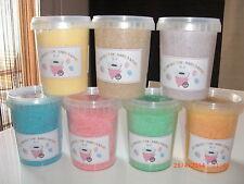 4 pots = 1,880kg net sucre machine barbe à papa qualité pro + 50 bâtons 60 goûts