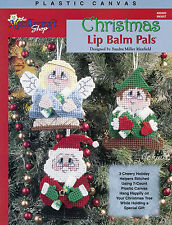 Christmas Lip Balm Pals ~ Angel Elf Santa Holders plastic canvas patterns