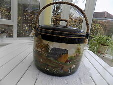 Antique Cast Iron Romary Gypsy Hand Painted  Pot