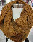 Cable Knit Scarf Infinity Amber Very Long Wide Circle Wear many Ways NWT DC719